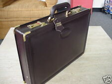 "EXECUTIVE LEATHER 3"" BRIEFCASE ATTACHE LUGGAGE COMPUTER LAPTOP CASE PIGSKIN LINE"