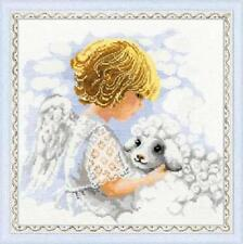 Day Of An Angel Angel and Lamb Cushion Cross Stitch Kit