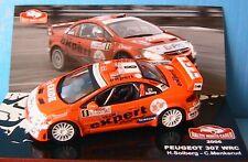 PEUGEOT 307 WRC #8 RALLYE MONTE CARLO 2006 SOLBERG MENKERUD IXO 1/43 TEAM EXPERT