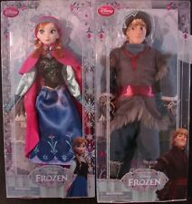 "Disney Dolls From the Movie Frozen Kristoff & Princess Anna 12"" Set of 2 New"