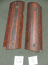Q 1911 Grips Checkered Red Dymondwood 1911A1 Colt Kimber Springfield Micarta