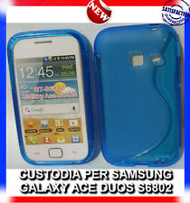 Pellicola+Custodia cover case WAVE BLU per Samsung Galaxy Ace Duos S6802