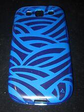 Blue Silicone Case for Samsung Galaxy S3 III Blue Silicone Stripe Pattern