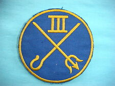 VIETNAM WAR PATCH, US NAVY DESTROYER ESCORT SQUADRON 3 (CORT-RON-THREE)