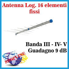 Antenna Terrestre LOGARITMICA 16 elementi Banda III - IV - V