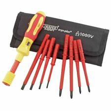 Draper Tools Expert Nine Piece VDE Torque Screwdriver Set Spare Blades 65372