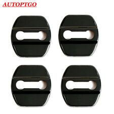 W/LOGO Black Car Door Lock Protective Cover Cap For Most of Nissan X-Trail Teana