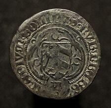Rst. Nürnberg, 1/2 Schilling o.J. (1465-67), 2 Ringel über Adler, R!