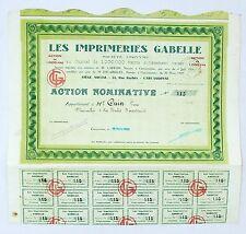 Dépt 11 - Carcassonne 44 Rue Barbès - Rare Les Imprimeries Gabelle du 31/03/1929