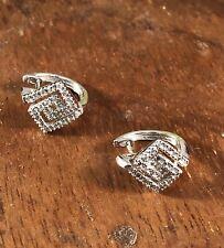 Stunning  9ct white gold 0.30 diamond Huggie's  earring