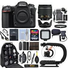 Nikon D500 Digital SLR Camera 4K with 18-55mm VR Lens + 64GB Pro Video Kit