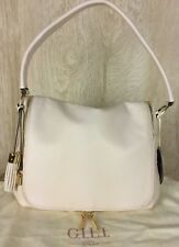 G.I.L.I. with HALOGUARD NWT Leather Zip Front RFID Handbag -Tusk