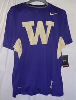 Washington Huskies NCAA Mens Nike Dri-Fit Football Shirt Sz Medium NWT