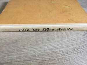 """altes Buch Akt """"Sieg der Körperfreude"""" FKK"""