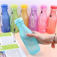 incassable courir verre en plastique étanche eau en bouteille de sport glacé