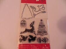 Art-C Christmas 2016 Stamp & Cut Set - Tree & Reindeer -#693 -NEW!!