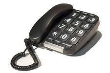 LARGE NUMBER BIG BOTTOM TELEPHONE HANDSET HOME ANSWERING PHONE BLACK SPEAKER NEW