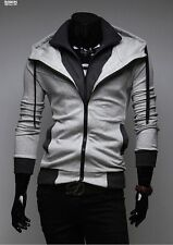 Mens Double Layer + Hooded Jacket Modern Slim Fit Jacket Full Zip Coats PK46