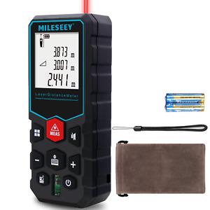 MiLESEEY Digital Laser Point Distance Meter Tape Range Finder Measure 40m 130 FT