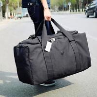 80L Large Canvas Hand Bag Duffle Bag Moving Large Travel Shoulder Bag Luggage