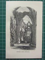 1888 Antico Stampa ~ Tintern Abbey Interno