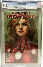 INVINCIBLE IRON MAN # 1 CGC 9.8 (2015) SIYA OUM PHANTOM VARIANT!