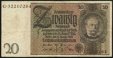 Ro.174F 20 Reichsmark 1929 (3) braune Kennnummer
