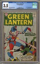 Green Lantern #1 (CGC 3.5) C-O/W pgs; Origin retold; Gil Kane; DC; 1960 (j#6143)