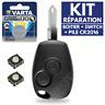KIT➜ Coque pour Télécommande Plip Clef RENAULT Modus Twingo Clio 3 Master Kangoo