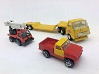 3 x Vintage Original Tonka Diecast Cars Lorry Fire Engine Retro Collectable