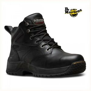 DR MARTENS MENS TORNESS STEEL TOE CAP SAFETY WORK LEATHER BLACK BOOTS Antistatic
