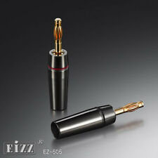 50 Pairs 24K Musical Speaker Cable Wire Gold Banana Plug Audio Jack Connector