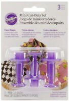 Wilton Mini Cut-Outs Classic Shapes Set For Fondant Cupcake Decorations Accents