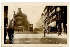 HIGH STREET LEICESTER -tram- shops-police men,Leicestershire -RP-ebs