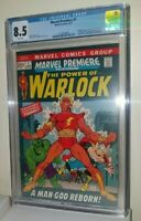 MARVEL PREMIERE 1 CGC 8.5 first ADAM WARLOCK Infinity/Soul gem High Evolutionary