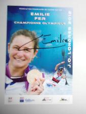 CARTE JEUX OLYMPIQUES LONDON 2012 / EMILIE FER CHAMPIONNE / SIGNE