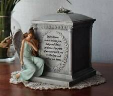 Memorial Cremation Urn 8x7 Angel Dove It broke our hearts to lose you Pet Person
