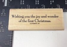 Wishing You The Joy And Wonder Of The First Christmas Rubber Stamp Wood Mount