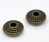 70 Bronze Tone HOTSELL Saucer Spacer Beads 8x4mm