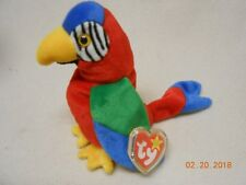 Original Ty Beanie Babies Jabber the Parrot Mwmt w/ hard tag protector collector