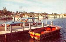 Long Island New York Yacht Basin Waterfront Vintage Postcard K30614