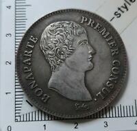 H20203 pièce monnaie belle copie 5 francs napoléon  an XI A pas en argent copy