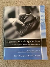 Mathematics with Applications: Second Custom Edition for Business Math at WPU