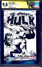 Immortal Hulk #1 TURKISH B&W VARIANT CGC SS 9.8 signed Yildiray Cinar + SKETCH