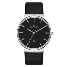 Skagen Ancher Black Leather Watch SKW6104