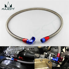 """55"""" SS Stainless Steel 10An Braided Oil Fuel Gas Line Hose Kit w/ Adapter"""