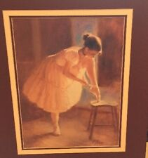 Beautiful Ballerina - Signed by R. Tolan Matted Excellent Condition