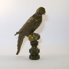 "VINTAGE PARROT LAMP FINIAL ~ Antique Brass Finish  { 2 1/4"" Tall } ~ #LE29"