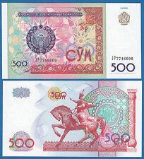 Uzbekistan 500 Sum P 81 1999 Unc Low Shipping! Combine Free!