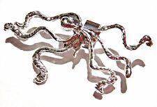 SILVER OCTOPUS EAR CUFF shiny earring clamp-on cthulhu kraken squid steampunk 3W